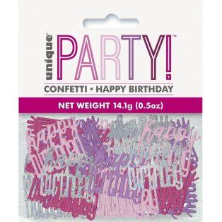 HAPPY BIRTHDAY KONFETTI, PINK