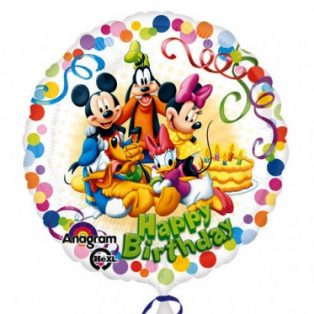FÓLIA LUFI GÖMB, HAPPY BIRTHDAY MICKEY