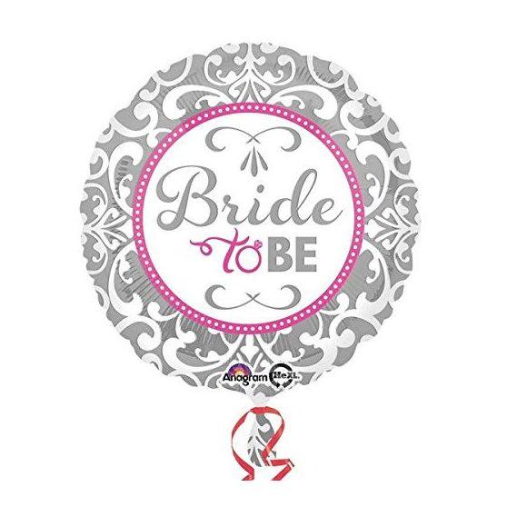 "FÓLIA LUFI, 17""/43cm, GÖMB, ""BRIDE TO BE"""
