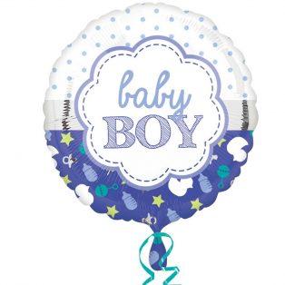 "FÓLIA LUFI, 17""/43cm, GÖMB, ""BABY BOY"""