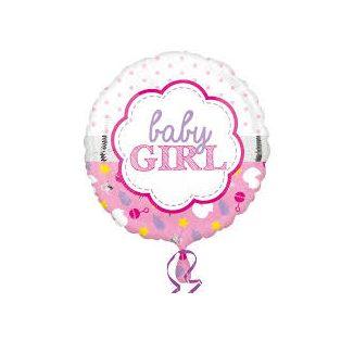 """FÓLIA LUFI, 17""""/43cm, GÖMB, """"BABY GIRL"""""""