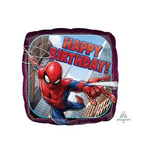 FÓLIA LUFI, PÁRNA, SPIDER-MAN HAPPY BIRTHDAY