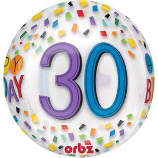 ORBZ / BUBORÉK LUFI, HAPPY BIRTHDAY 30, 38x40cm
