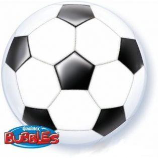 """Bubbles/ Buborék lufi, focilabdás, 22""""/56cm"""
