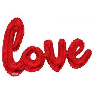 """PIROS """"LOVE"""" FÓLIA LUFI, 95X160 CM"""