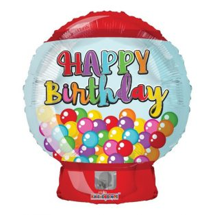"FÓLIA LUFI, 18""/45 cm, HAPPY BIRTHDAY, BUBBLE GUM,"