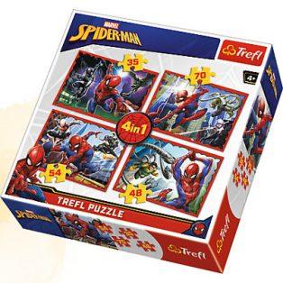 PUZZLE, 4 az 1-ben, SPIDER-MAN
