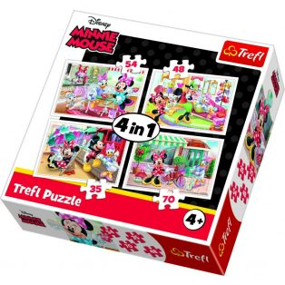 MINNIE EGÉR PUZZLE, 4IN1, TREFL