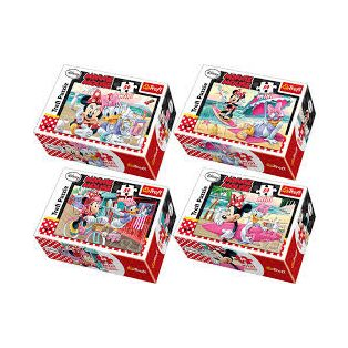 PUZZLE, MINI, 54 DB-OS, MINNIE, 4 FÉLE
