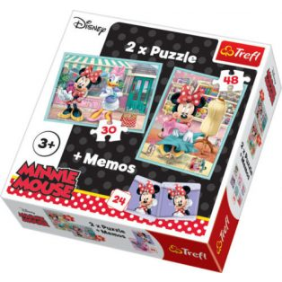 MINNIE EGÉR PUZZLE, 3IN1, TREFL
