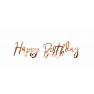 HAPPY BIRTHDAY FELIRAT, ROSEGOLD, 16,5x62 cm