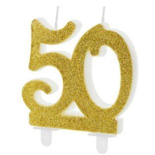 50 ÉVSZÁMOS ARANY TORTAGYERTYA