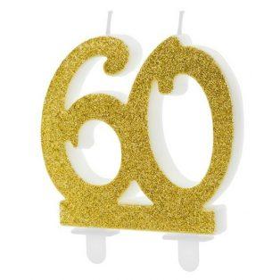60 ÉVSZÁMOS ARANY TORTAGYERTYA
