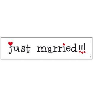RENDSZÁMTÁBLA, JUST MARRIED