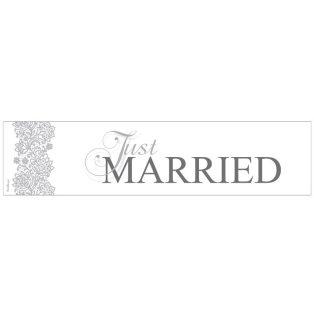 RENDSZÁMTÁBLA ESKÜVŐRE, JUST MARRIED