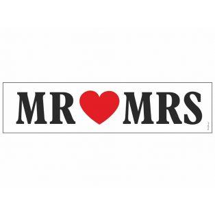 RENDSZÁMTÁBLA, MR&MRS