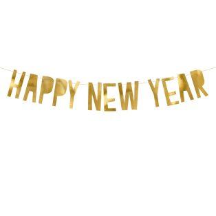 HAPPY NEW YEAR FELIRAT ARANY SZÍNBEN