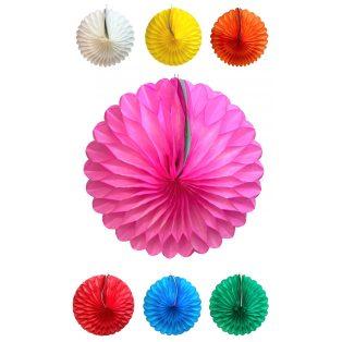PAPÍR LAMPION, KERÉK, NAGY, d38 cm, Egyszínű, 6 féle színben