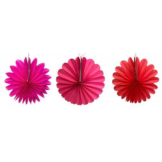 PAPÍR LAMPION, KERÉK, KICSI, 25cm, Egyszínű, 6 féle színben