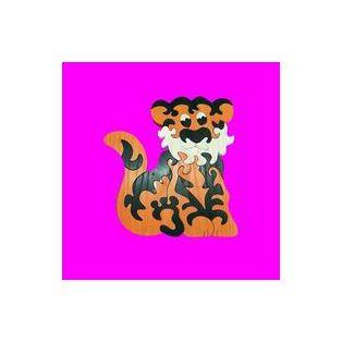 FA PUZZLE, (2,5cm VASTAG) TIGRIS, 21 cm, 18 részes