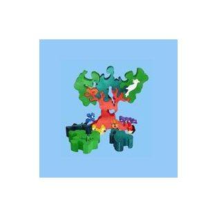 FA PUZZLE, (2,5cm VASTAG) Madaras Fa, 25 cm, 16 részes
