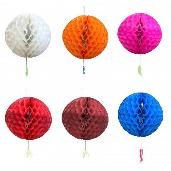 PAPÍR LAMPION, GÖMB, 26 cm/2db, Egyszínű, 2 féle színben