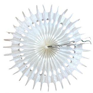 PAPÍR LAMPION, KERÉK, CSIPKÉS, 50cm/2db, Egyszínű, 6 féle színbe