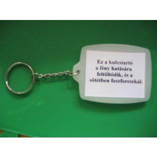 KULCSTARTÓ, FÉNYKÉP NÉLKÜL, FLUORESZKÁLÓ, 35x45mm