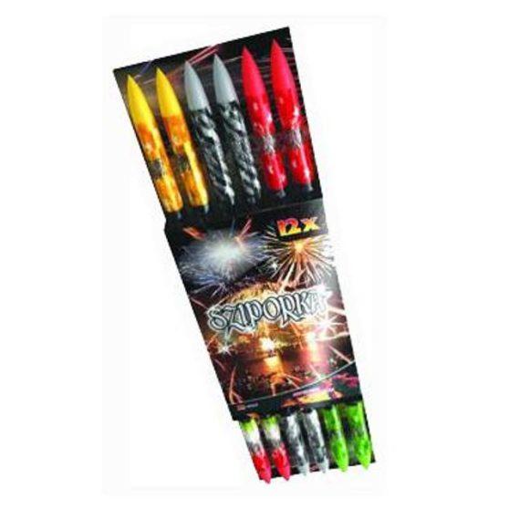 SZIPORKA, tűzijáték kis rakétaszett, 12db, 12 lövés