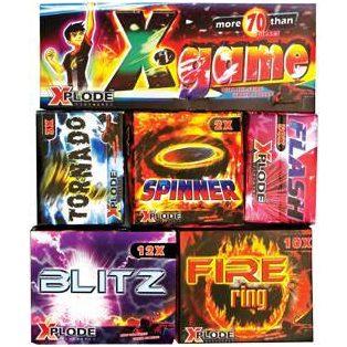 X-GAME, VEGYES TÜZIJÁTÉK, 5 doboz, 1-es kategória,