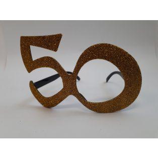 SZEMÜVEG, ARANY, GLITTERES, 50. ÉVSZÁMOS