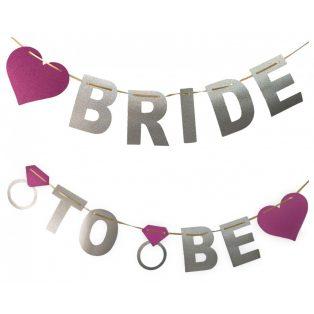 BRIDE TO BE GLITTERES FELIRAT LÁNYBÚCSÚRA