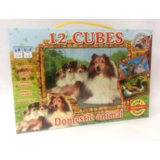 PUZZLE, MESEKOCKA, 12 DB-OS, DOMESTIC ANIMALS