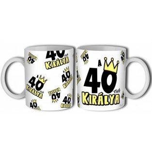 KERÁMIA BÖGRE 40. SZÜLETÉSNAPRA FÉRFIAKNAK