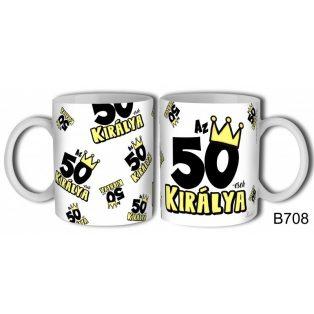 KERÁMIA BÖGRE 50. SZÜLETÉSNAPRA FÉRFIAKNAK