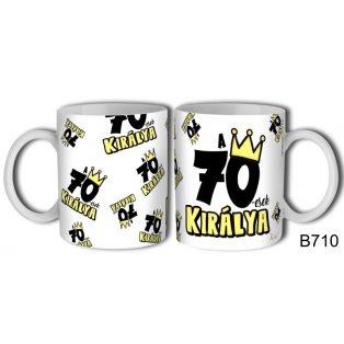KERÁMIA BÖGRE 70. SZÜLETÉSNAPRA, B710