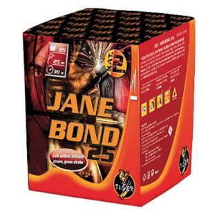 JANE BOND 25 TELEP, 25 LÖVÉS, 25 MM, 30 MP