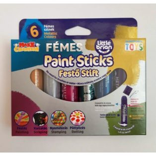 6 DB-OS FÉMES FESTŐ STIFT-PAINT STICKS