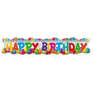 """FELIRAT """"HAPPY BIRTHDAY""""-LUFIS,  24X132CM"""