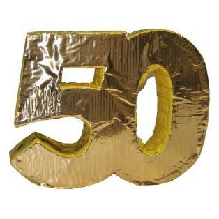 "PINATA, ""50"", ARANY, 48X40 CM"