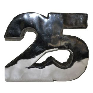 "PINATA, ""25"", EZÜST, 48X40 CM"