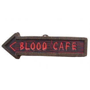 """HALLOWEEN FALIDEKOR, """"BLOOD CAFÉ"""", 57 CM, MŰA."""