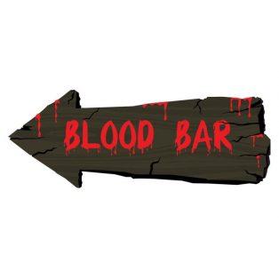 """HALLOWEEN FALIDEKOR, """"BLOOD BAR"""", 50 CM"""