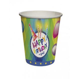 "PARTI POHÁR, ""HAPPY BIRTHDAY to you"", 8 DB/CS, 2,5 DL"