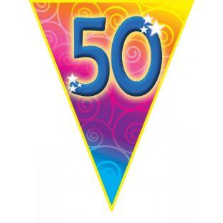 """FELIRAT, ZÁSZLÓ, """"50"""", 5 M"""