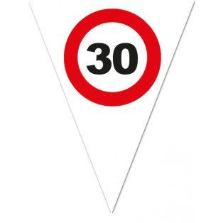 """FELIRAT, ZÁSZLÓ, BEHAJTANI TILOS """"30"""""""