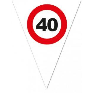 """FELIRAT, ZÁSZLÓ, BEHAJTANI TILOS """"40"""""""