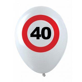 40 ÉVSZÁMOS GÖMB LUFI, BEHAJTANI TILOS