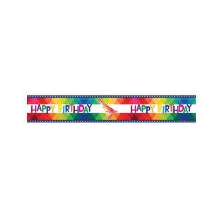"""PARTI KORDON SZALAG, """"HAPPY BIRTHDAY to you"""", 8X610 CM"""