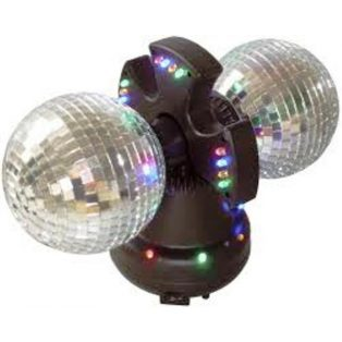 DUPLA DISZKÓ GÖMB LEDEKKEL / DISCO LIGHT